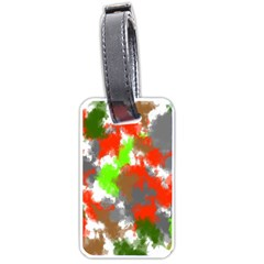 Abstract Watercolor Background Wallpaper Of Splashes  Red Hues Luggage Tags (two Sides)