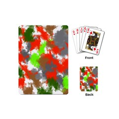 Abstract Watercolor Background Wallpaper Of Splashes  Red Hues Playing Cards (Mini)