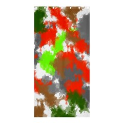 Abstract Watercolor Background Wallpaper Of Splashes  Red Hues Shower Curtain 36  X 72  (stall)