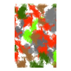 Abstract Watercolor Background Wallpaper Of Splashes  Red Hues Shower Curtain 48  x 72  (Small)