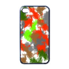 Abstract Watercolor Background Wallpaper Of Splashes  Red Hues Apple iPhone 4 Case (Black)