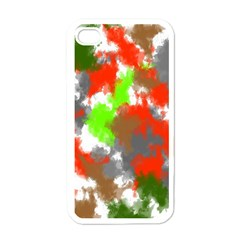 Abstract Watercolor Background Wallpaper Of Splashes  Red Hues Apple iPhone 4 Case (White)
