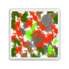 Abstract Watercolor Background Wallpaper Of Splashes  Red Hues Memory Card Reader (square)