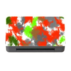 Abstract Watercolor Background Wallpaper Of Splashes  Red Hues Memory Card Reader with CF