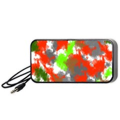 Abstract Watercolor Background Wallpaper Of Splashes  Red Hues Portable Speaker (Black)