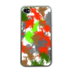 Abstract Watercolor Background Wallpaper Of Splashes  Red Hues Apple Iphone 4 Case (clear)