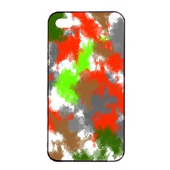 Abstract Watercolor Background Wallpaper Of Splashes  Red Hues Apple iPhone 4/4s Seamless Case (Black)
