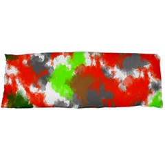 Abstract Watercolor Background Wallpaper Of Splashes  Red Hues Body Pillow Case (dakimakura)