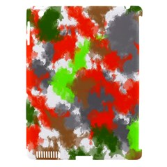 Abstract Watercolor Background Wallpaper Of Splashes  Red Hues Apple iPad 3/4 Hardshell Case (Compatible with Smart Cover)