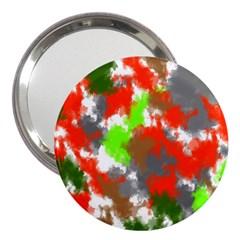Abstract Watercolor Background Wallpaper Of Splashes  Red Hues 3  Handbag Mirrors