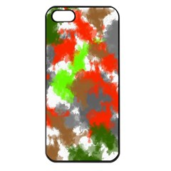 Abstract Watercolor Background Wallpaper Of Splashes  Red Hues Apple iPhone 5 Seamless Case (Black)