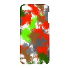 Abstract Watercolor Background Wallpaper Of Splashes  Red Hues Apple Ipod Touch 5 Hardshell Case