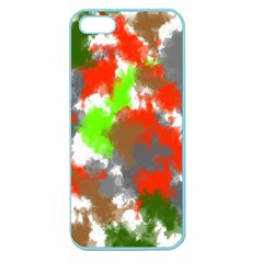 Abstract Watercolor Background Wallpaper Of Splashes  Red Hues Apple Seamless iPhone 5 Case (Color)
