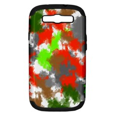 Abstract Watercolor Background Wallpaper Of Splashes  Red Hues Samsung Galaxy S Iii Hardshell Case (pc+silicone)