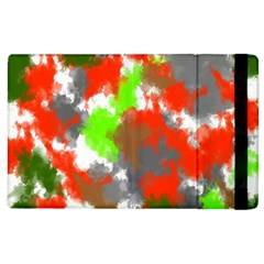 Abstract Watercolor Background Wallpaper Of Splashes  Red Hues Apple iPad 3/4 Flip Case