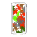 Abstract Watercolor Background Wallpaper Of Splashes  Red Hues Apple iPod Touch 5 Case (White) Front