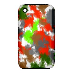 Abstract Watercolor Background Wallpaper Of Splashes  Red Hues iPhone 3S/3GS
