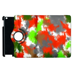Abstract Watercolor Background Wallpaper Of Splashes  Red Hues Apple iPad 2 Flip 360 Case