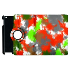Abstract Watercolor Background Wallpaper Of Splashes  Red Hues Apple Ipad 3/4 Flip 360 Case