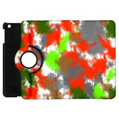 Abstract Watercolor Background Wallpaper Of Splashes  Red Hues Apple Ipad Mini Flip 360 Case