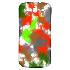 Abstract Watercolor Background Wallpaper Of Splashes  Red Hues Samsung Galaxy S3 S Iii Classic Hardshell Back Case