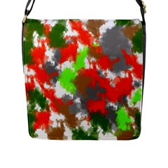 Abstract Watercolor Background Wallpaper Of Splashes  Red Hues Flap Messenger Bag (L)