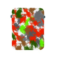 Abstract Watercolor Background Wallpaper Of Splashes  Red Hues Apple Ipad 2/3/4 Protective Soft Cases
