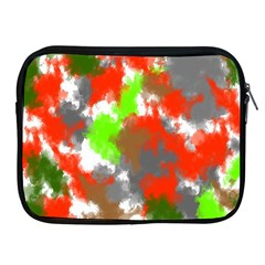 Abstract Watercolor Background Wallpaper Of Splashes  Red Hues Apple iPad 2/3/4 Zipper Cases