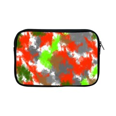 Abstract Watercolor Background Wallpaper Of Splashes  Red Hues Apple Ipad Mini Zipper Cases