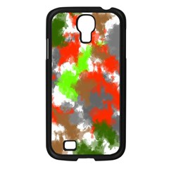 Abstract Watercolor Background Wallpaper Of Splashes  Red Hues Samsung Galaxy S4 I9500/ I9505 Case (black)