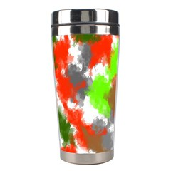Abstract Watercolor Background Wallpaper Of Splashes  Red Hues Stainless Steel Travel Tumblers