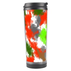 Abstract Watercolor Background Wallpaper Of Splashes  Red Hues Travel Tumbler