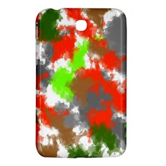 Abstract Watercolor Background Wallpaper Of Splashes  Red Hues Samsung Galaxy Tab 3 (7 ) P3200 Hardshell Case