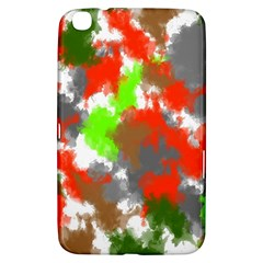 Abstract Watercolor Background Wallpaper Of Splashes  Red Hues Samsung Galaxy Tab 3 (8 ) T3100 Hardshell Case