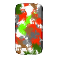 Abstract Watercolor Background Wallpaper Of Splashes  Red Hues Samsung Galaxy S4 Classic Hardshell Case (pc+silicone)