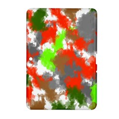 Abstract Watercolor Background Wallpaper Of Splashes  Red Hues Samsung Galaxy Tab 2 (10.1 ) P5100 Hardshell Case