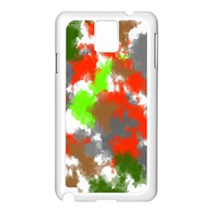 Abstract Watercolor Background Wallpaper Of Splashes  Red Hues Samsung Galaxy Note 3 N9005 Case (White)
