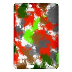 Abstract Watercolor Background Wallpaper Of Splashes  Red Hues Amazon Kindle Fire Hd (2013) Hardshell Case
