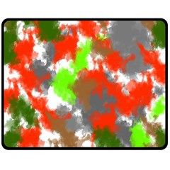 Abstract Watercolor Background Wallpaper Of Splashes  Red Hues Double Sided Fleece Blanket (Medium)