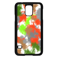Abstract Watercolor Background Wallpaper Of Splashes  Red Hues Samsung Galaxy S5 Case (Black)