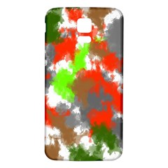 Abstract Watercolor Background Wallpaper Of Splashes  Red Hues Samsung Galaxy S5 Back Case (white)