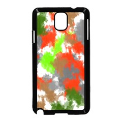 Abstract Watercolor Background Wallpaper Of Splashes  Red Hues Samsung Galaxy Note 3 Neo Hardshell Case (Black)