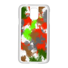 Abstract Watercolor Background Wallpaper Of Splashes  Red Hues Samsung Galaxy S5 Case (white)