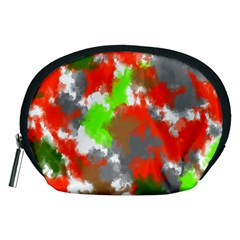 Abstract Watercolor Background Wallpaper Of Splashes  Red Hues Accessory Pouches (medium)