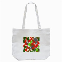 Abstract Watercolor Background Wallpaper Of Splashes  Red Hues Tote Bag (White)
