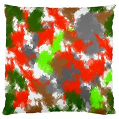 Abstract Watercolor Background Wallpaper Of Splashes  Red Hues Large Flano Cushion Case (two Sides)