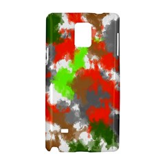 Abstract Watercolor Background Wallpaper Of Splashes  Red Hues Samsung Galaxy Note 4 Hardshell Case