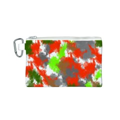 Abstract Watercolor Background Wallpaper Of Splashes  Red Hues Canvas Cosmetic Bag (s)