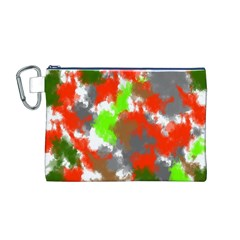 Abstract Watercolor Background Wallpaper Of Splashes  Red Hues Canvas Cosmetic Bag (M)
