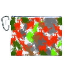 Abstract Watercolor Background Wallpaper Of Splashes  Red Hues Canvas Cosmetic Bag (xl)